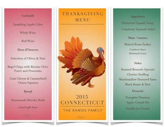 Thx Giving Menu '15